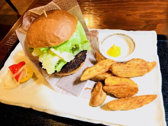 常陸牛のハンバーガー